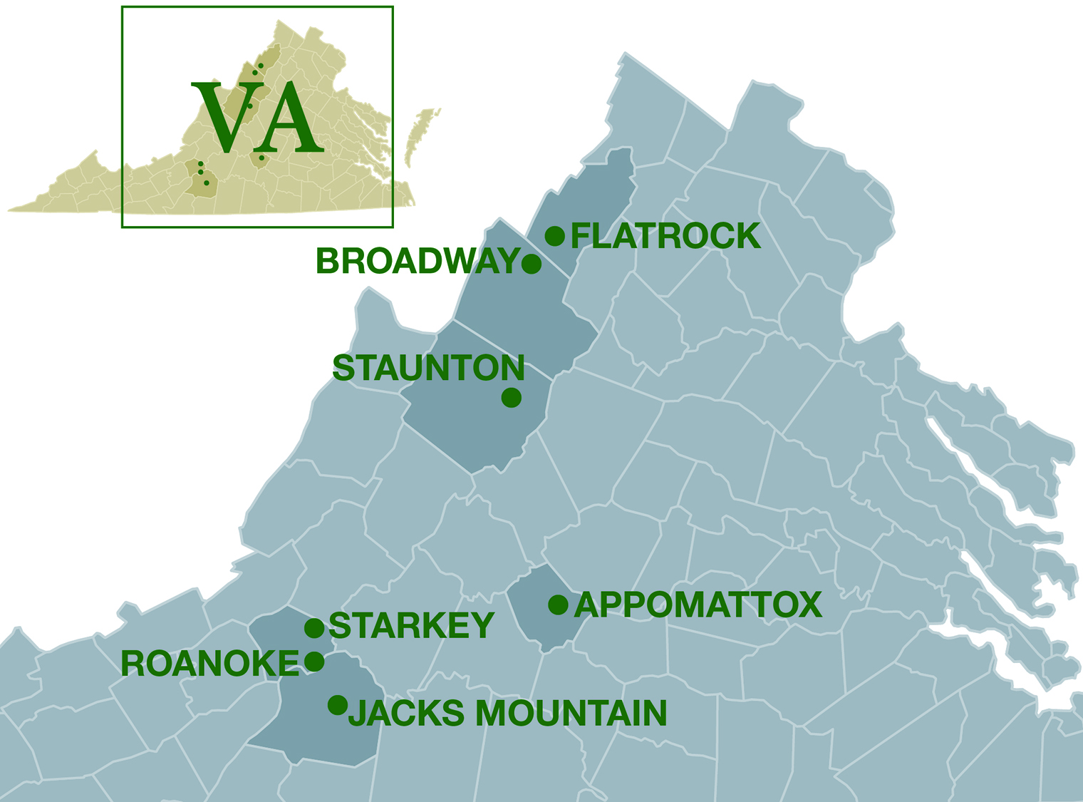 Quarrie Locations, VA